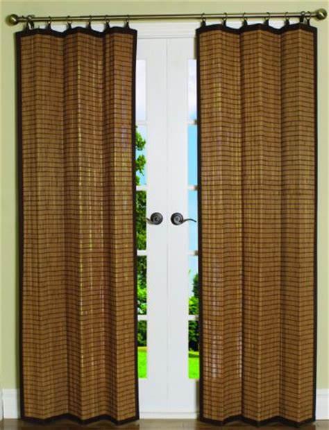 40 Inch Closet Door by Bamboo Ring Top Curtain Panel Closet Door Brown 40l X 84h