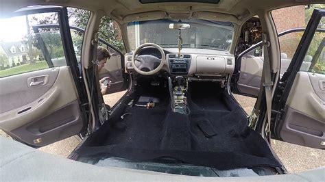 honda accord carpet removal install youtube