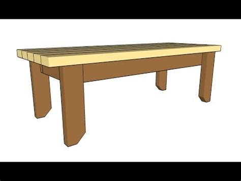 bench plans youtube