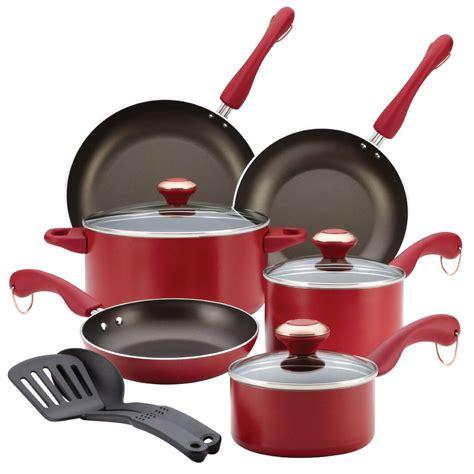 cookware paula deen aluminum press piece non signature nonstick stick safe healthy 11pcs selling coating sets durable dishwasher porcelain pan
