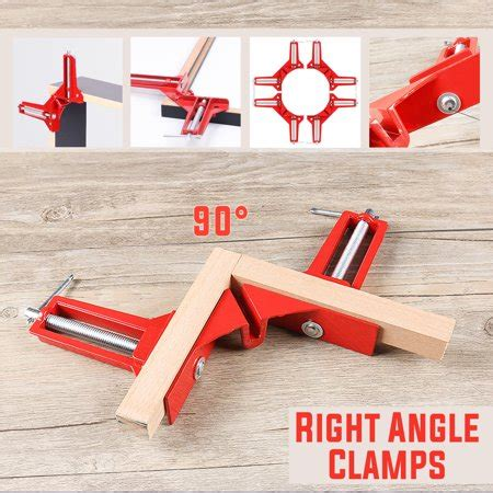 inchmm  degrees  angle corner clamp aluminum alloy miter picture photo frame corner