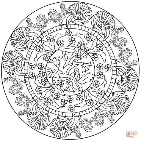 Mandalas Für Experten by Dibujo De Mandala Con Patr 243 N De Gallo Para Colorear