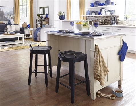 island tables for kitchen with stools cowboy saddle stool by trisha yearwood home collection by 9026