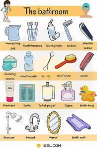 Bathroom Vocabulary In English In The Bathroom 7 E S L