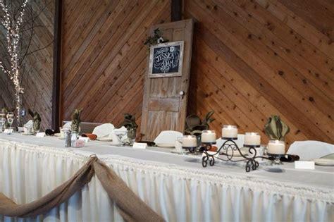 rustic door  head table backdrop wedding head table