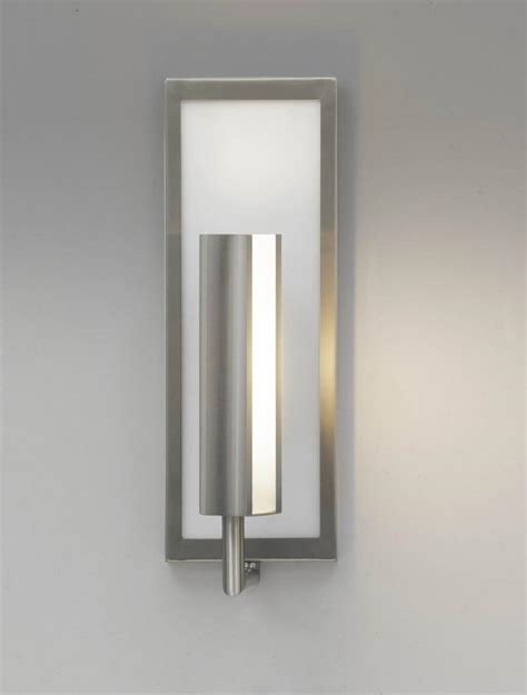 feiss one light brushed steel wall light brushed steel