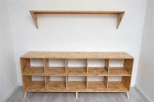 meuble tv osb mobilier design decoration d39interieur With meuble osb
