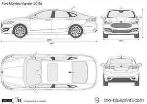 Ford Mondeo Vignale vector drawing