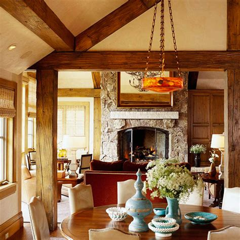 Comfort And Style For A Rustic Mountain Home  Traditional