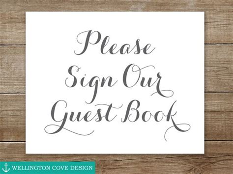 Please Sign Our Guest Book Sign For Wedding • Printable