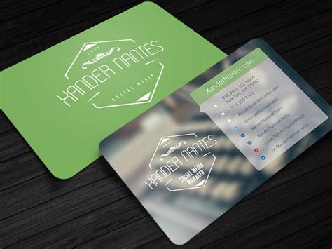social media business card templates psd word ai