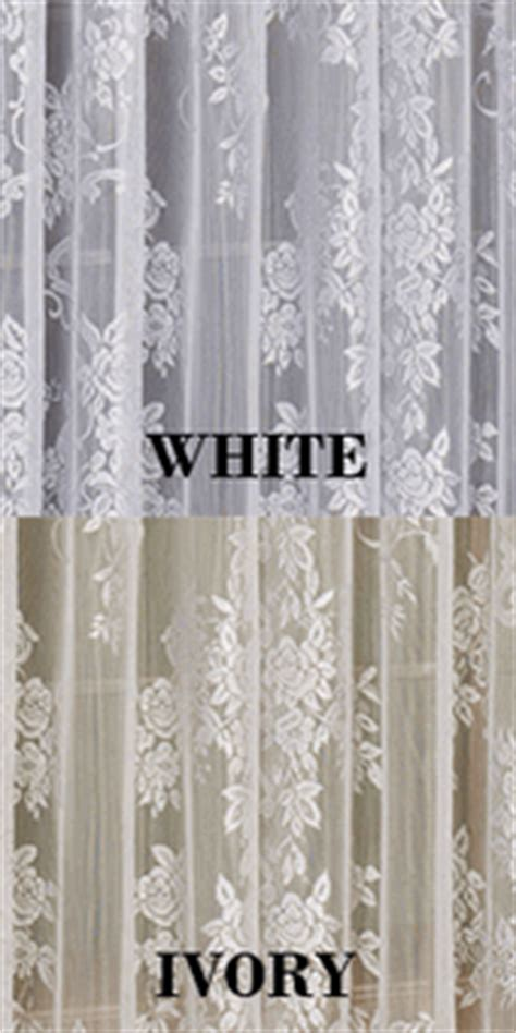 Lace Curtain Panel With Attached Valance by Lace Curtains Floral Lace Curtain Panel With