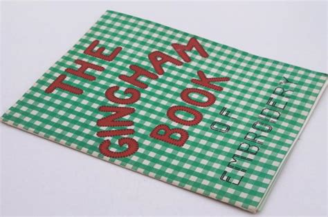 vintage needlework booklet gingham book of embroidery sewing patterns for chicken scratch