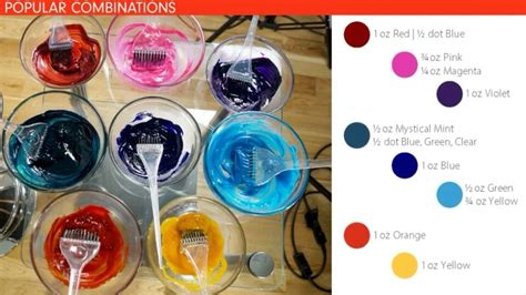 Color Combinations Using Pravana Vivids