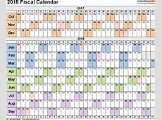 Fiscal calendars 2018 as free printable Word templates