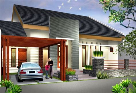 contoh rumah minimalis sederhana simple asri rumah