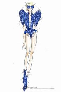 #Giorgio_Armani 's sketch for #Lady_Gaga | Fashion ...