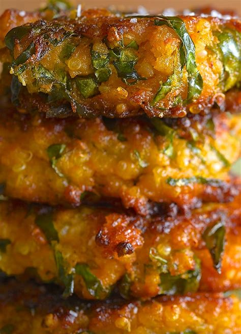 sweet potato kale  quinoa fritters