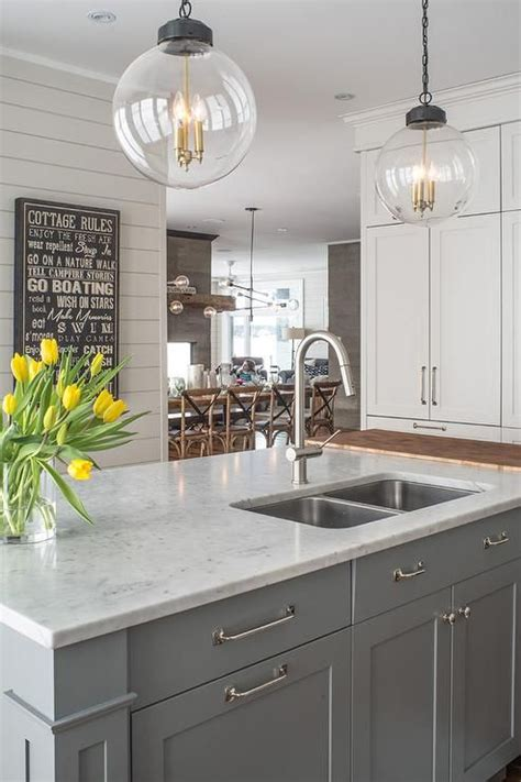 gray kitchen island 35 quartz kitchen countertops ideas with pros and cons