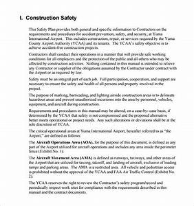 11 safety plan templates free samples examples format With contractor safety plan template