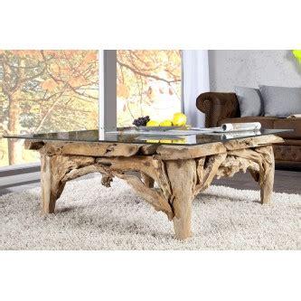 table basse bois flotte design table basse design en bois flott 233 avec plateau en verre