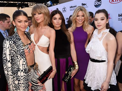 zendaya swift taylor squad friends hailee steinfeld lily aldridge outfits carpet together plan zastoupil sean fox icon glamour stylist master