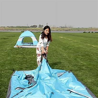 Camping Tent Trip Folding Inside Gifs Clothes