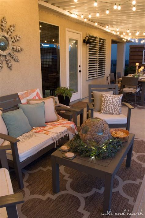 Decorating Ideas For Outdoor Patios by Coastal Summer Patio Decor Rustic Touches And A