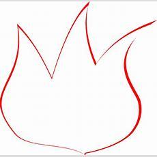 Flame Outline Clip Art At Clkercom  Vector Clip Art Online, Royalty Free & Public Domain