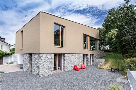 Fassadengestaltung Modern Pultdach  Haus Deko Ideen