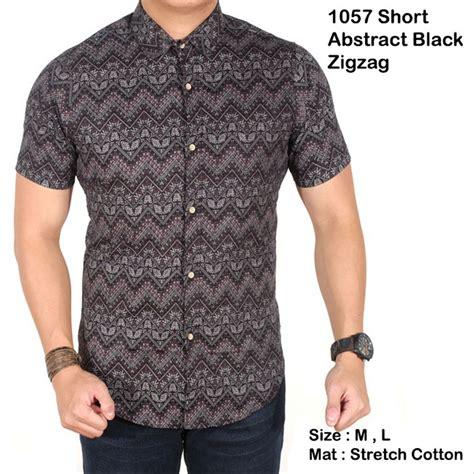 jual kemeja batik lengan pendek pria kemeja batik modern pria di lapak hilltop collection