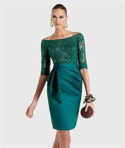 green cocktail dress with sleeves Naf Dresses