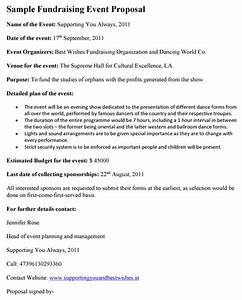 Sample Event Planning Contract Fundraising Event Proposal Template