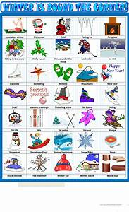 Winter :pictionary worksheet - Free ESL printable ...