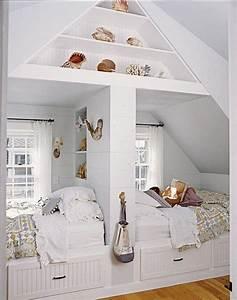 chambre d39enfants creer deux espaces sous combles reve With une chambre pour deux