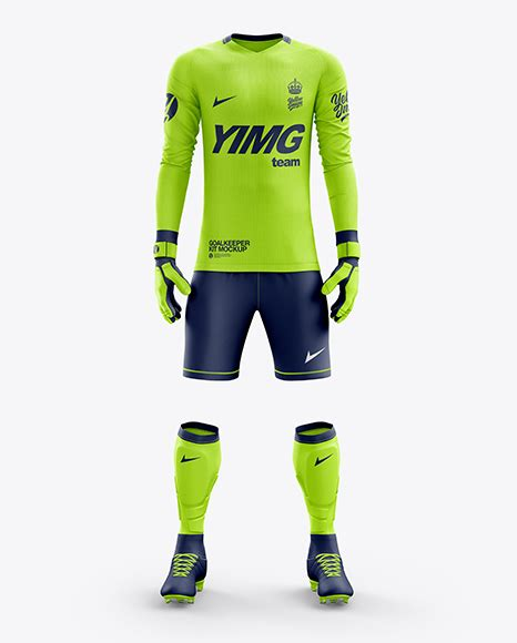 Every mockup is free, every mockups is easy to download. Men's Full Soccer Goalkeeper Kit mockup (Front View) - Men ...