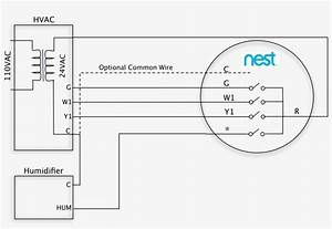 Stand Alone Hum 1 Wire At Nest Wiring Diagram - Furnace Nest Thermostat Wiring Diagram