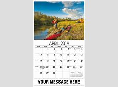 Fishing and Hunting Promotional Calendar 65¢ Business