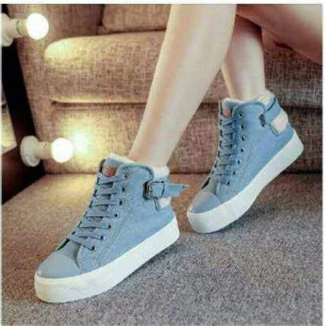 12yy Wedges Boots Sepatu Wanita jual sepatu boot korea wedges kets casual cewek