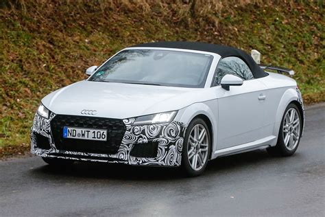 audi tt facelift spied testing pictures auto express