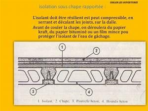 Isolant Sous Chape : isolation et etancheite ~ Melissatoandfro.com Idées de Décoration