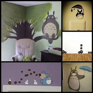 totoro nursery baby boy rooms pinterest With totoro wall decal