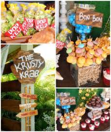 hawaiian themed wedding favors kara 39 s party ideas spongebob squarepants birthday party
