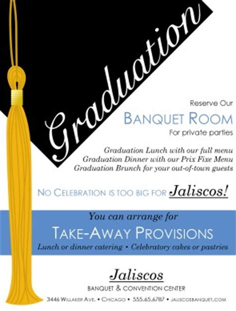 high school graduation flyer party menu