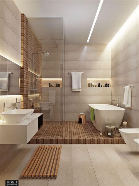 id 233 e d 233 coration salle de bain un m 233 lange de solid surface et de bois dans cette salle de bains