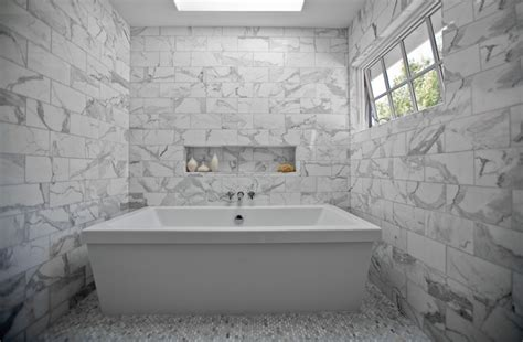 Carrara Marble Bathroom Floor by Carrara Marble Tile Bathroom Design Ideas