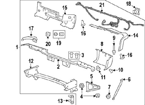 2004 Chevy Silverado Front End Part Diagram by 2010 Gmc 1500 Parts Gm Parts Department Buy