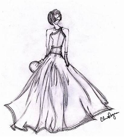 Ball Sketch Gown Clipart Deviantart Sketches Gowns