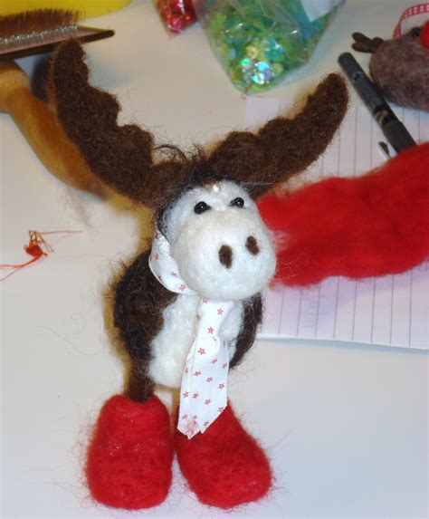 needle felting christmas decorations  guest blog