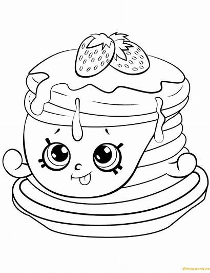 Pancakes Drawing Coloring Getdrawings Shopkins
